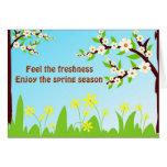 Disfrute de la estación de primavera - tarjeta