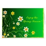 ¡Disfrute de la estación de primavera! - Tarjeta