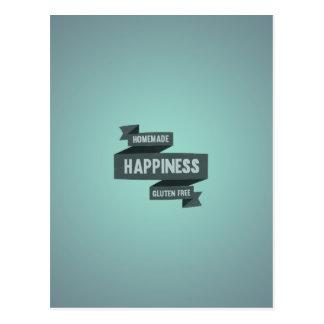 Disfrute de la felicidad hecha en casa, ahora postal