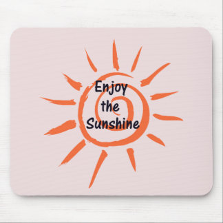 Disfrute de la sol Mousepad Tapetes De Raton