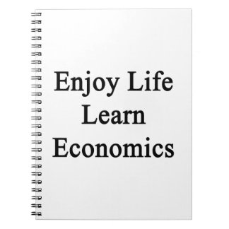 Disfrute de la vida aprenden la economía libreta espiral