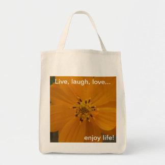 ¡Disfrute de la vida! Bolsa Tela Para La Compra