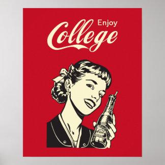 Disfrute de la vida de la universidad para el póster