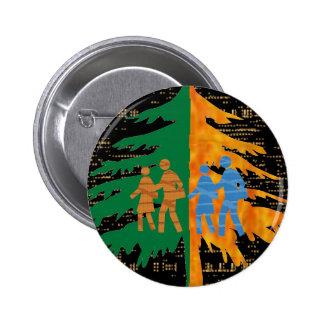 DISFRUTE DE LA VIDA:  Noche del día n Pin Redondo De 2 Pulgadas