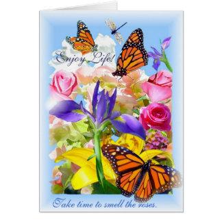 ¡Disfrute de la vida! tarjeta