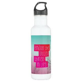 Disfrute de la yoga de la vida botella de agua de acero inoxidable