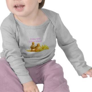 Disfrute de las pequeñas cosas, anadones camiseta