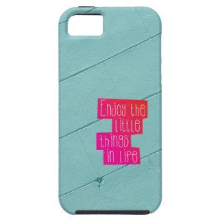 Disfrute de las pequeñas cosas en tipografía de la iPhone 5 Case-Mate cárcasa