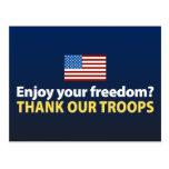 ¿Disfrute de su libertad? Agradezca a nuestras tro Tarjetas Postales