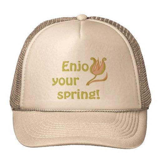 Disfrute de su primavera gorro