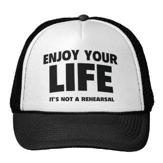 Disfrute de su vida. No es un ensayo
