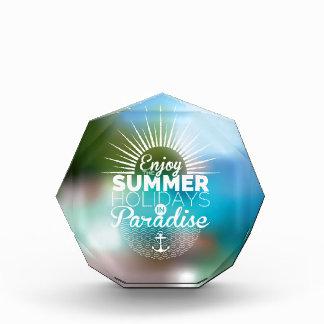 disfrute del paraíso de las vacaciones de verano