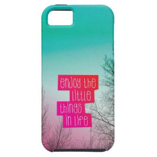 Disfrute del pequeño caso del iphone del texto de  iPhone 5 cobertura
