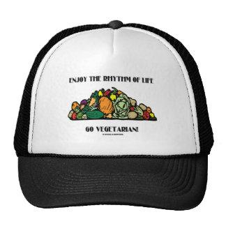 ¡Disfrute del ritmo de la vida van vegetariano! Gorro De Camionero