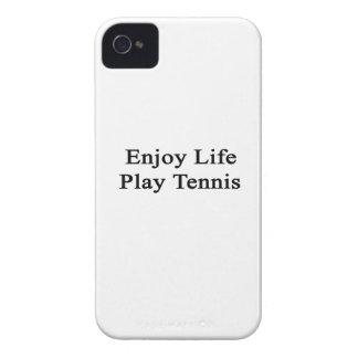 Disfrute del tenis del juego de la vida Case-Mate iPhone 4 funda