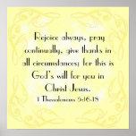 Disfrute el 5:16 de Thessalonians del verso 1 de l Poster