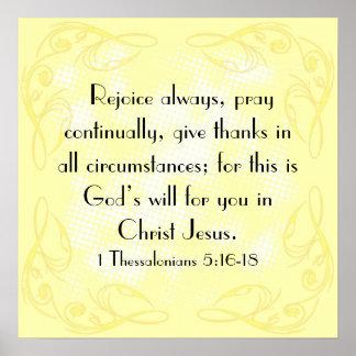 Disfrute el 5:16 de Thessalonians del verso 1 de l Póster