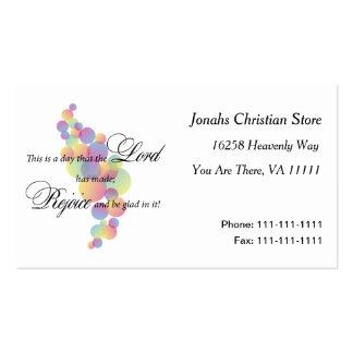 Disfrute en el señor tarjetas de visita