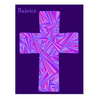 Disfrute la postal cruzada cristiana púrpura del