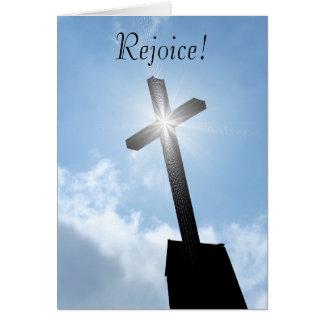 Disfrute la tarjeta de felicitación espiritual cru