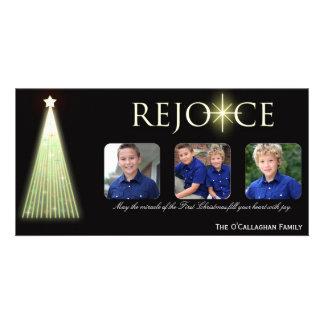 Disfrute - la tarjeta de la foto del navidad tarjetas con fotos personalizadas