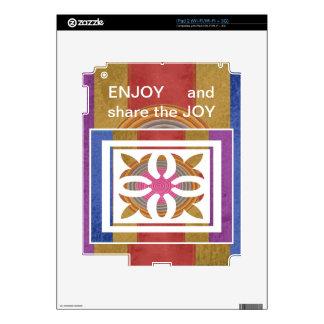 DISFRUTE y comparta de la ALEGRÍA - expresiones iPad 2 Skins