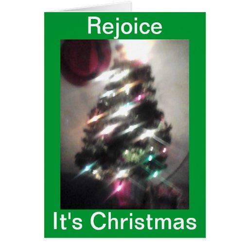 Disfrútelo es tarjeta de Navidad
