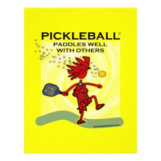 """Disfruto con el camisetas y los regalos de Pickleb Folleto 8.5"""" X 11"""""""