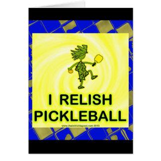 Disfruto con el camisetas y los regalos de Pickleb Tarjeta