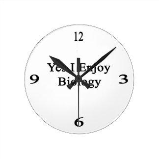 Disfruto sí de biología relojes