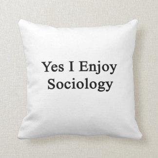 Disfruto sí de la sociología almohada