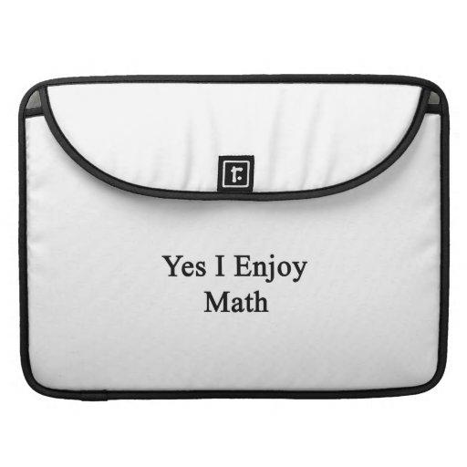 Disfruto sí de matemáticas fundas para macbooks
