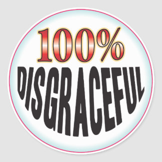 Disgraceful Tag Classic Round Sticker