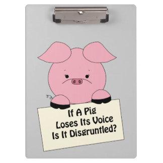 Disgruntle Pig Clipboard