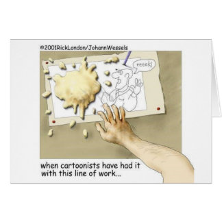 Disgruntled Cartoonist Funny Gifts & Collectibles Card