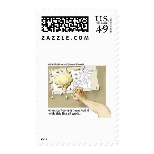Disgruntled Cartoonist Funny Gifts & Collectibles Postage