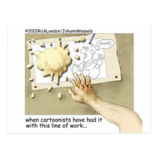 Disgruntled Cartoonist Funny Gifts & Collectibles Postcard