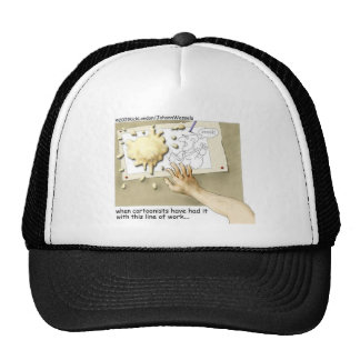 Disgruntled Cartoonist Funny Gifts & Collectibles Trucker Hat