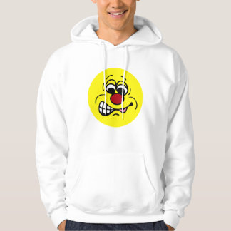 Disgruntled Employee Smiley Face Grumpey Hoodie