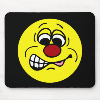 Disgruntled Employee Smiley Face Grumpey Mouse Pad