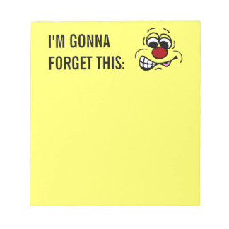 Disgruntled Employee Smiley Face Grumpey Notepad