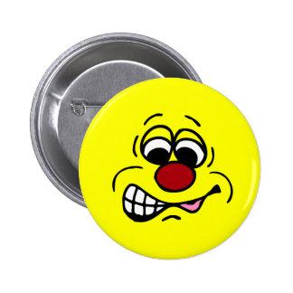 Disgruntled Employee Smiley Face Grumpey Pinback Button