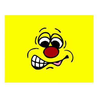 Disgruntled Employee Smiley Face Grumpey Postcard