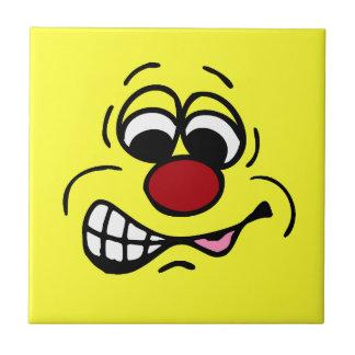 Disgruntled Employee Smiley Face Grumpey Tile