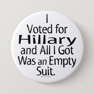 Disgruntled Hillary Supporter Button