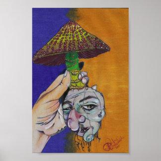 Disgruntled Mushroom Poster
