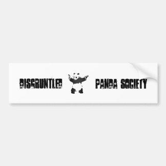 Disgruntled Panda Society Bumper Sticker