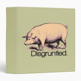 Disgruntled Pig 3 Ring Binder