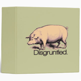Disgruntled Pig 3 Ring Binder