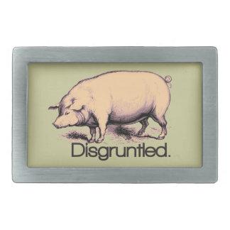 Disgruntled Pig Belt Buckle